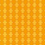 オレンジ色の松皮菱柄A4サイズ背景素材