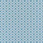 青と白の菊菱柄A4サイズ背景素材