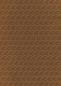 斜めに傾いた茶色の青海波柄A4サイズ背景素材