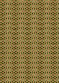 茶色と緑色の組亀甲柄A4サイズ背景素材