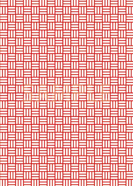 紅白カラーの算崩し模様・和柄のA4サイズ背景素材