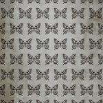 アゲハチョウのイラストが並ぶダークな感じのA4サイズ背景素材