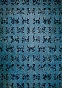 アゲハチョウのイラストが並ぶ青いA4サイズ背景素材