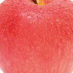 濡れたりんごのアップのA4サイズ背景素材