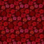 赤いバラのイラストのA4サイズ背景素材