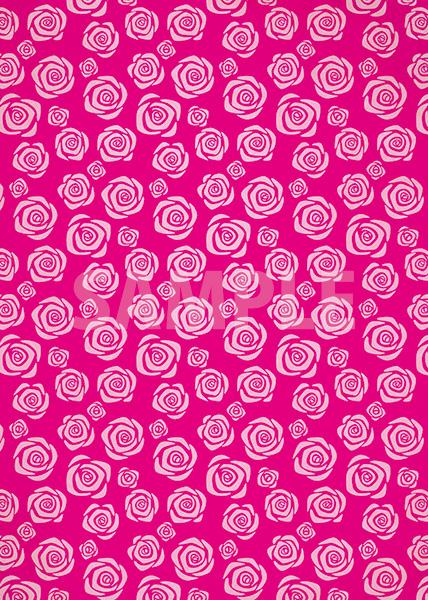 ピンク色のバラのイラストのA4サイズ背景素材
