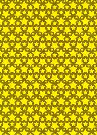 黄色の星が並ぶA4サイズ背景素材