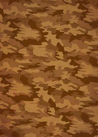 茶色の迷彩・カモフラージュ柄のA4サイズ背景素材