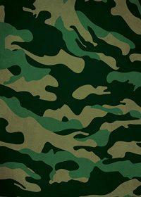 緑の迷彩・カモフラージュ柄のA4サイズ背景素材