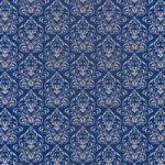 紺色のダマスク壁紙のA4サイズ背景素材