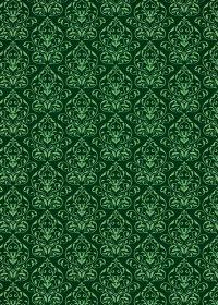 緑色のダマスク壁紙のA4サイズ背景素材