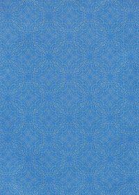 青色のアラベスク柄のA4サイズ背景素材