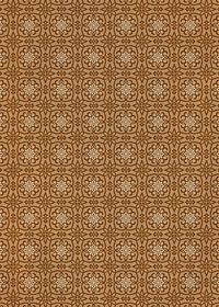 茶色い西洋風模様のA4サイズ背景素材