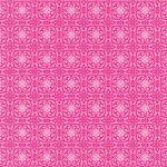 ピンク色の西洋風模様のA4サイズ背景素材