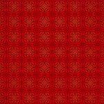 赤い西洋風模様のA4サイズ背景素材