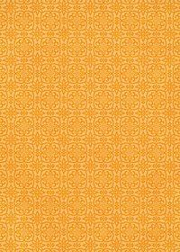 オレンジ色の西洋風模様のA4サイズ背景素材