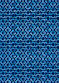 青色のトライアングルが並ぶA4サイズ背景素材