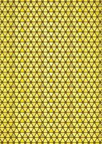 黄色のトライアングルが並ぶA4サイズ背景素材