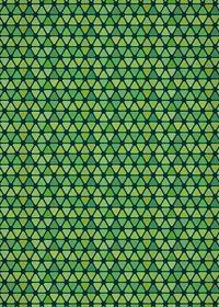 緑色のトライアングルが並ぶA4サイズ背景素材