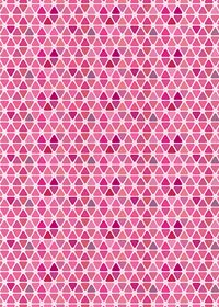 ピンク色のトライアングルが並ぶA4サイズ背景素材