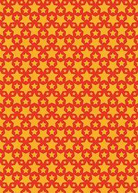 オレンジ色の星が並ぶA4サイズ背景素材