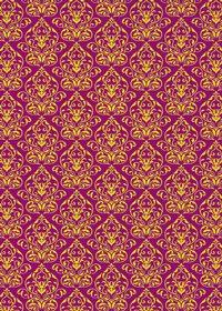 紫色のダマスク壁紙のA4サイズ背景素材