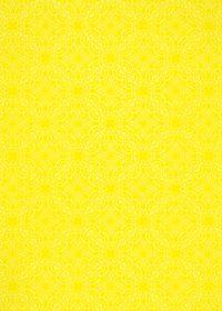 黄色のアラベスク柄のA4サイズ背景素材