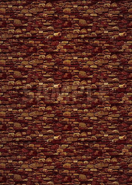 茶色の石ブロックのA4サイズ背景素材