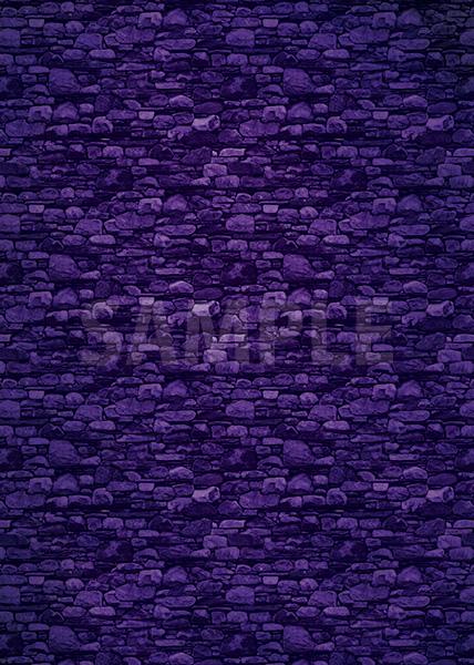 紫色の石ブロックのA4サイズ背景素材