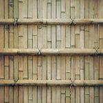 茶色の竹垣のA4サイズ背景素材