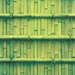 緑色の竹垣のA4サイズ背景素材