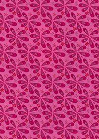 ピンク色のペイズリー柄のA4サイズ背景素材