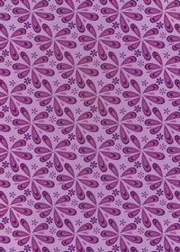 紫色のペイズリー柄のA4サイズ背景素材