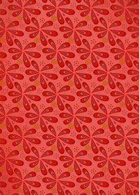 赤色のペイズリー柄のA4サイズ背景素材