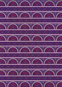 紫色のエスニック調のA4サイズ背景素材
