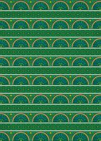 緑色のエスニック調のA4サイズ背景素材