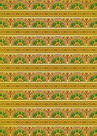 黄色のエスニック調のA4サイズ背景素材