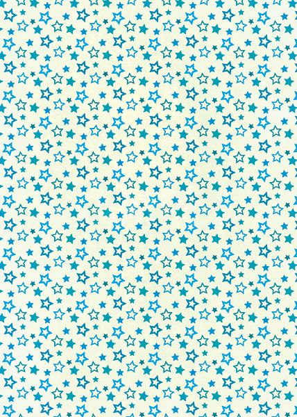 青い星型が散らばるA4サイズ背景素材