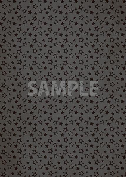 黒い星型が散らばるA4サイズ背景素材