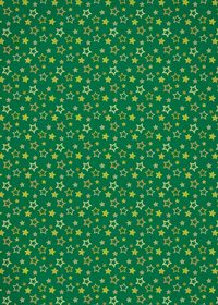 緑色の星型が散らばるA4サイズ背景素材