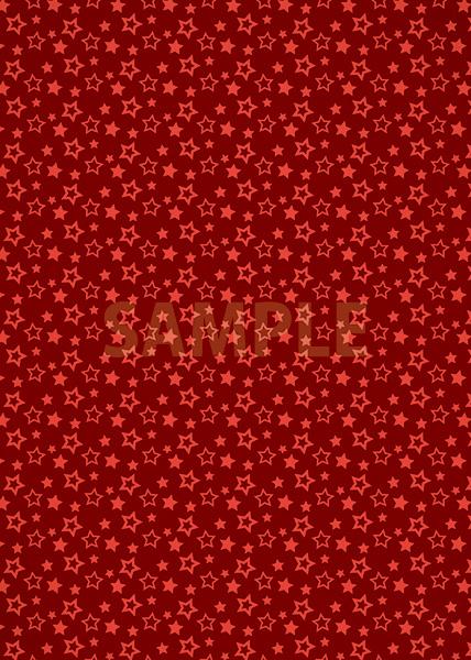 赤色の星型が散らばるA4サイズ背景素材