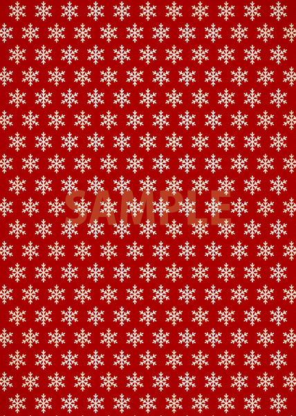 赤色の雪の結晶柄A4サイズ背景素材
