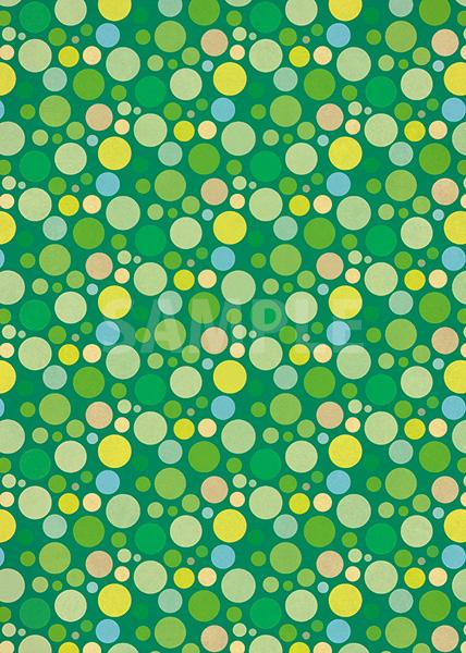 緑色のマルチドット柄A4サイズ背景素材
