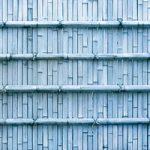 青色の竹垣のA4サイズ背景素材
