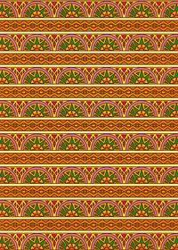 オレンジ色のエスニック調のA4サイズ背景素材
