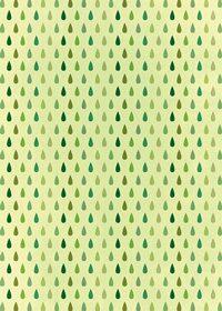 緑色のドロップ柄A4サイズ背景素材