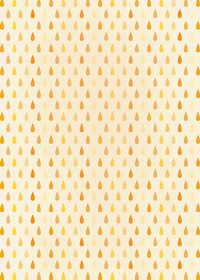 オレンジ色のドロップ柄A4サイズ背景素材
