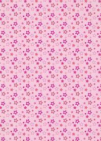 ピンク色の星型が散らばるA4サイズ背景素材