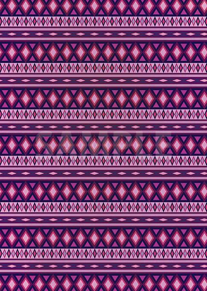 紫色のエスニック柄のA4サイズ背景素材