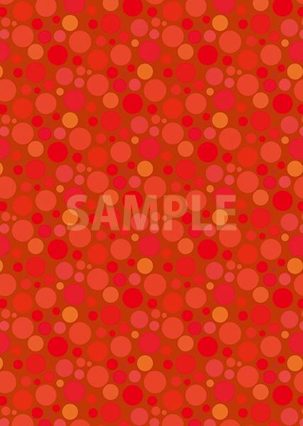 赤色のマルチドット柄A4サイズ背景素材
